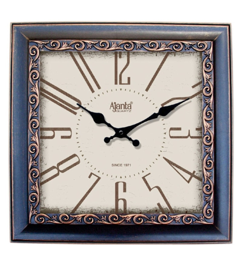Multicolour Plastic 12 x 2 x 12 Inch Designer Wall Clock by Ajanta Quartz