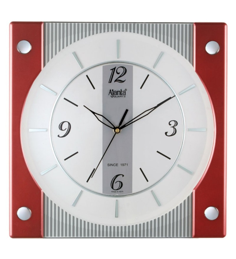 Multicolour Plastic 12 x 2 x 13 Inch Designer Wall Clock by Ajanta Quartz