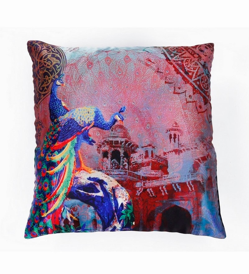Multicolour Polyester 16 x 16 Inch Cushion Cover by Skipper
