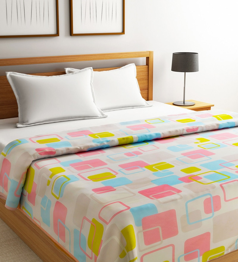 Multicolour Polyester 90 x 60 Inch Super Soft AC Dohar by Raymond Home