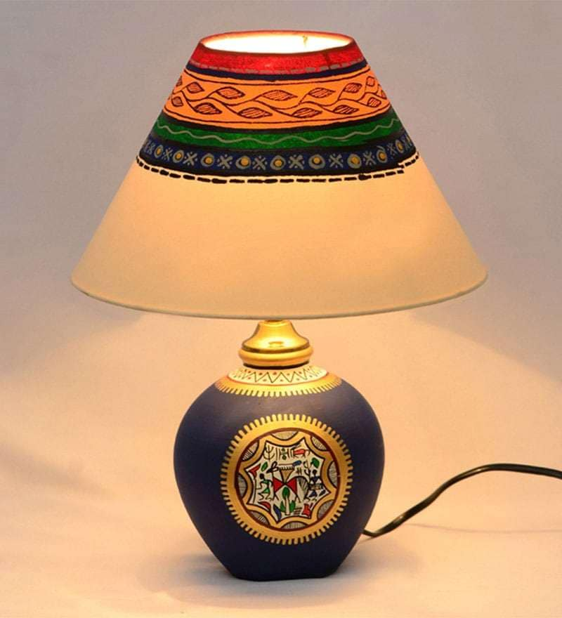 Multicolour Polyvinyl Table Lamp By ExclusiveLane