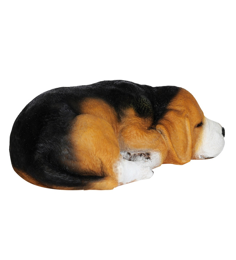 Buy Multicolour Resin Beagle Dog Sleeping Statue Garden