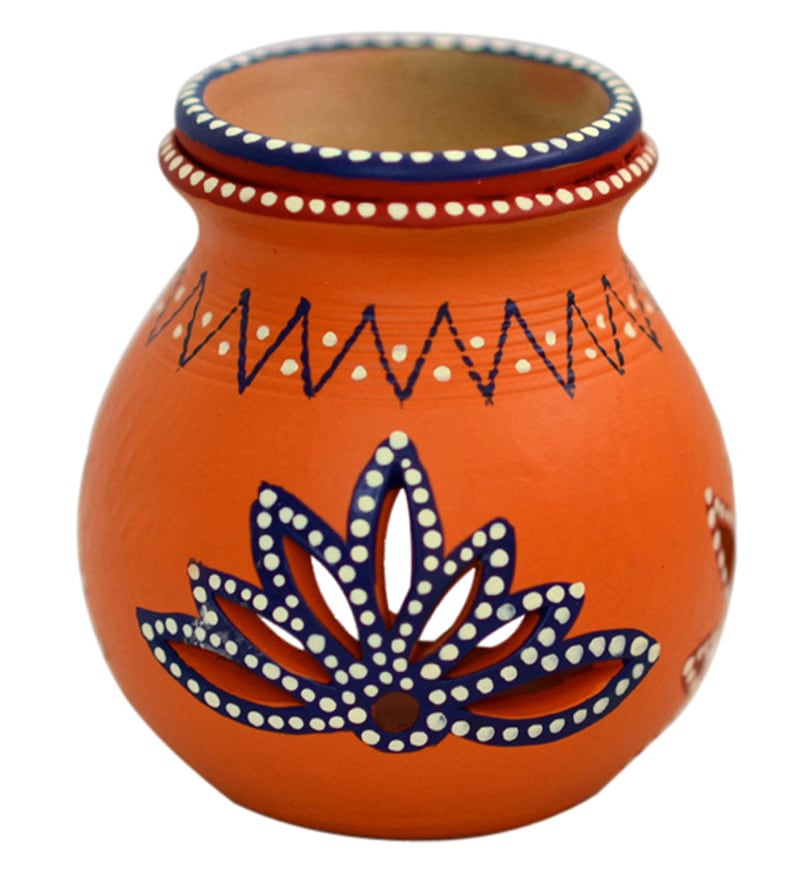 Multicolour Terracotta Handpainted Aroma Diffuser by Exclusivelane