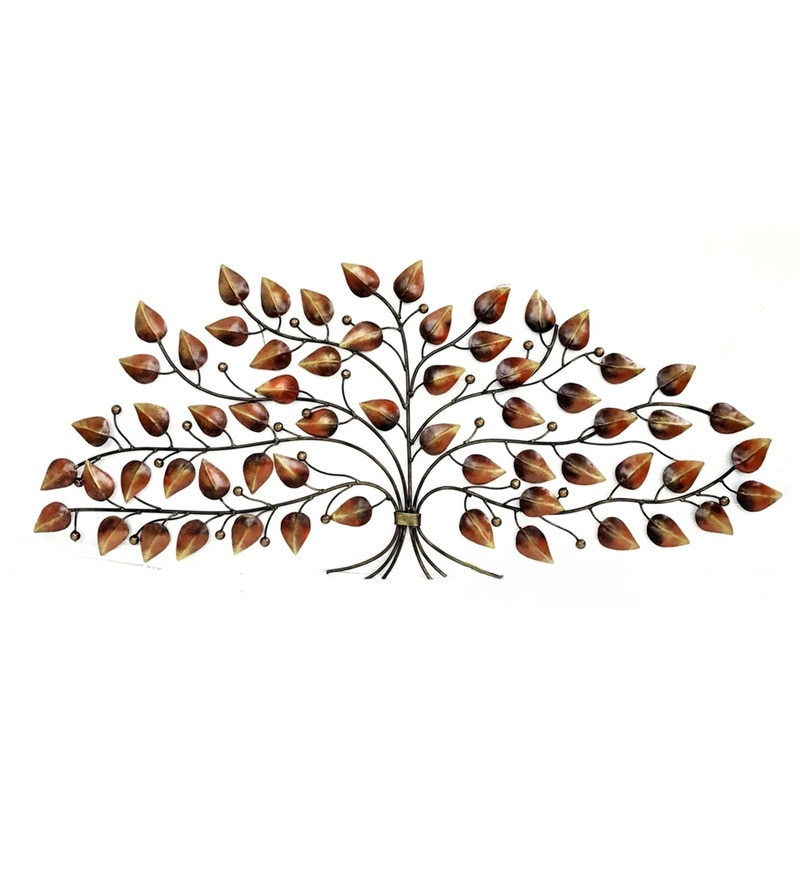 Multicolour W-Tisha Tree Iron Wall Hanging by Vedas
