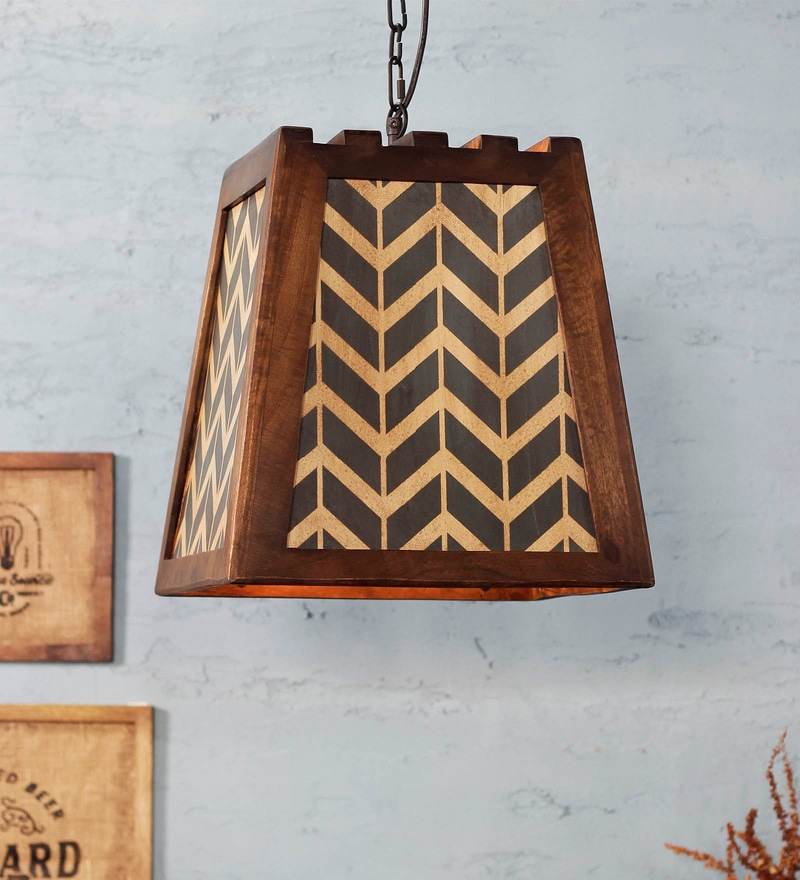 Multicolour Wood Hayes Pendant Lamp by Fabuliv