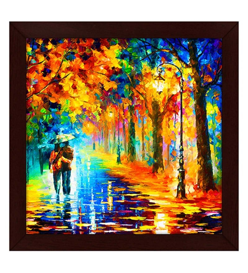 Buy multicolour wood wall art paintings by story home for Buy art posters online