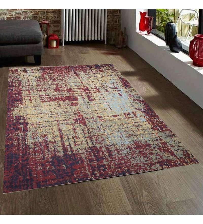 Multicolour Wool 90 x 63 Inch Carpet by Designs View