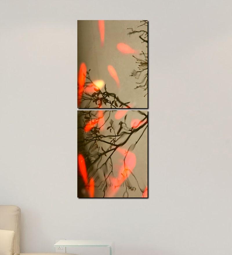 Multiple Frames Tree Leaves Art Panels like Painting - 2 Frames by 999Store