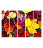 Multiple Frames Printed Red Yellow Leaves Art Panels like Painting - 5 Frames by 999Store