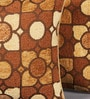 Muslin Brown Chenille 12 x 12 Inch Moroccan Cushion Cover - Set of 2