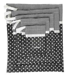 My Gift Booth Cotton Black Travel Pouches - Set Of 5