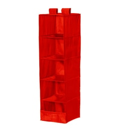 My Gift Booth Nylon Red Wardrobe Organiser