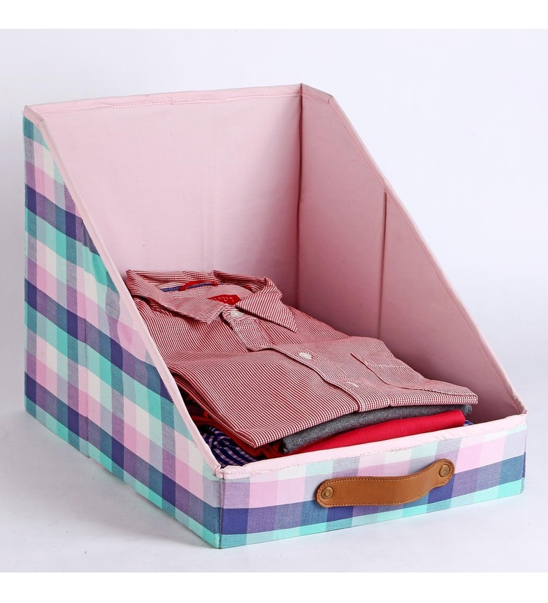 Cotton & Mdf Multicolour Clothing Storage Bin by My Gift Booth