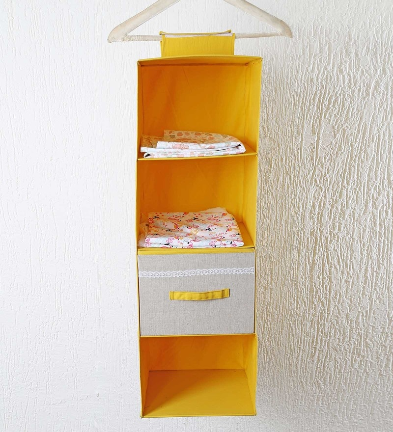 Cotton & Mdf Wardrobe Organiser by My Gift Booth