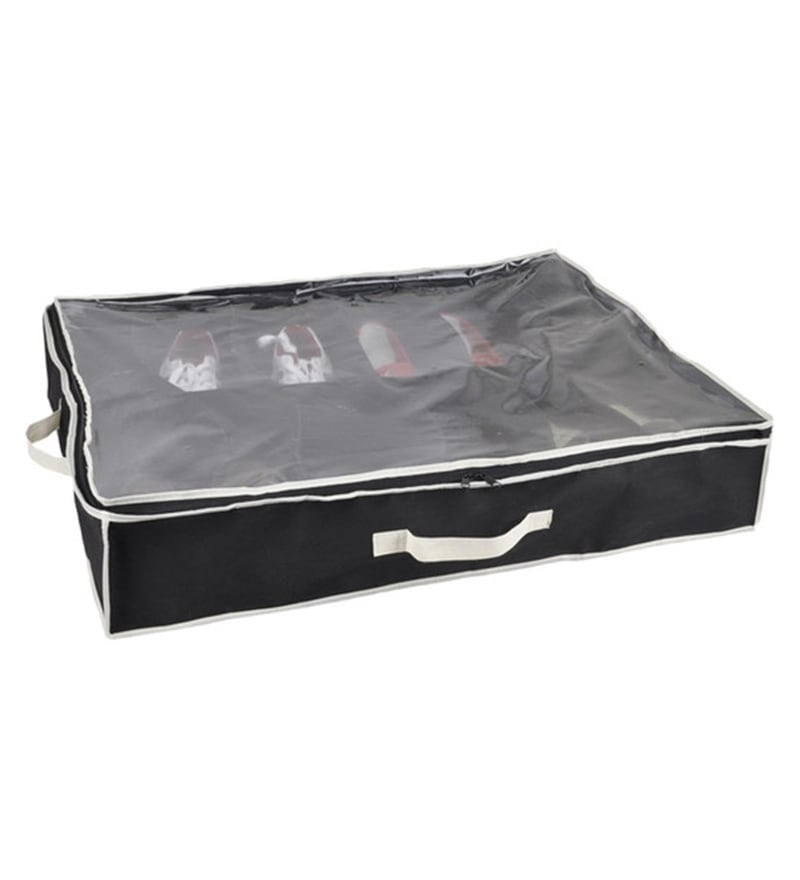 My Gift Booth Non-Woven Black Under Bed Footwear Organiser