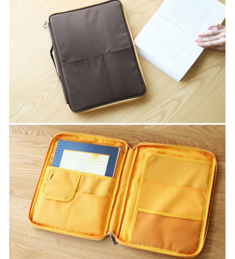 My Gift Booth Nylon Brown Note Pouch