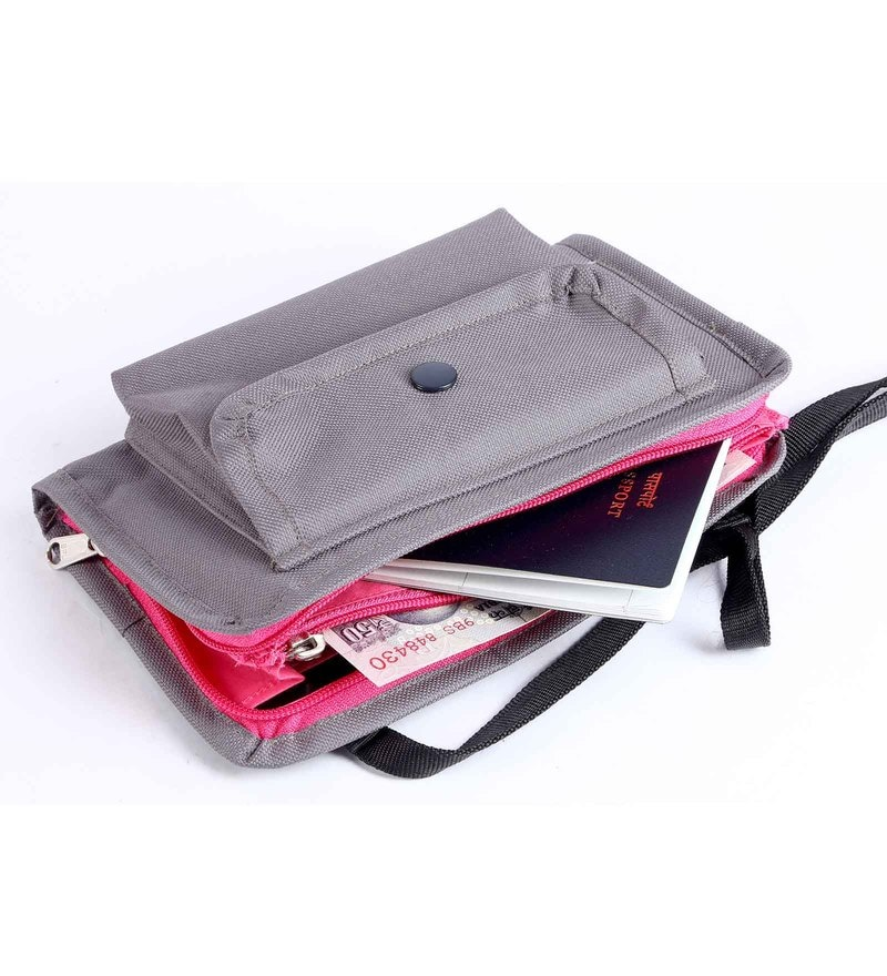 My Gift Booth Nylon Grey Travel Pouch