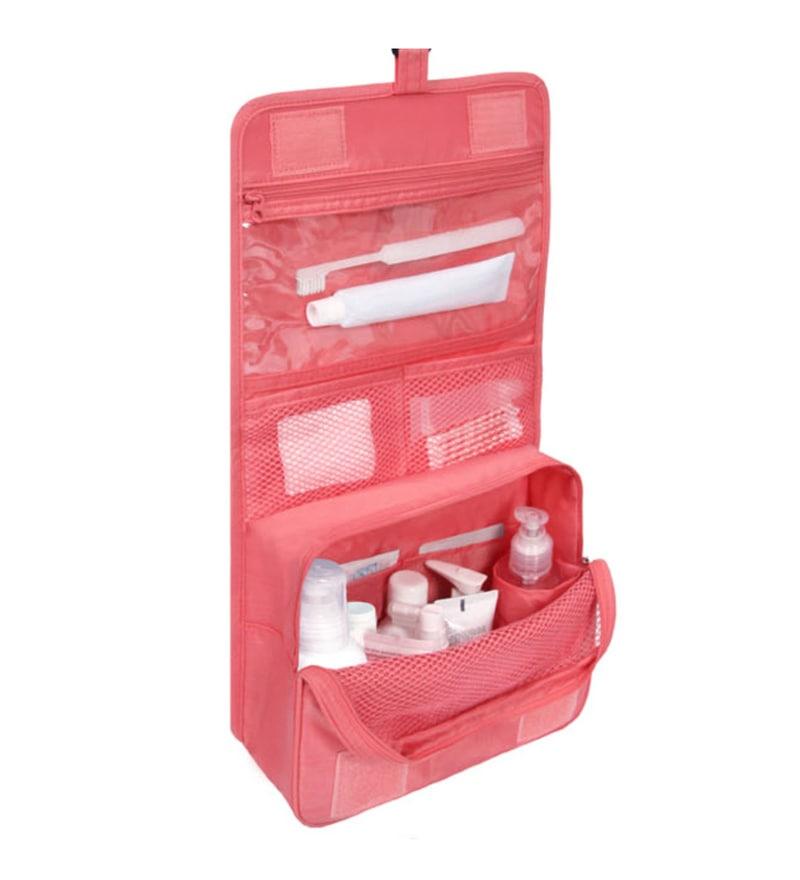 My Gift Booth Nylon Pink Vanity Travel Bag