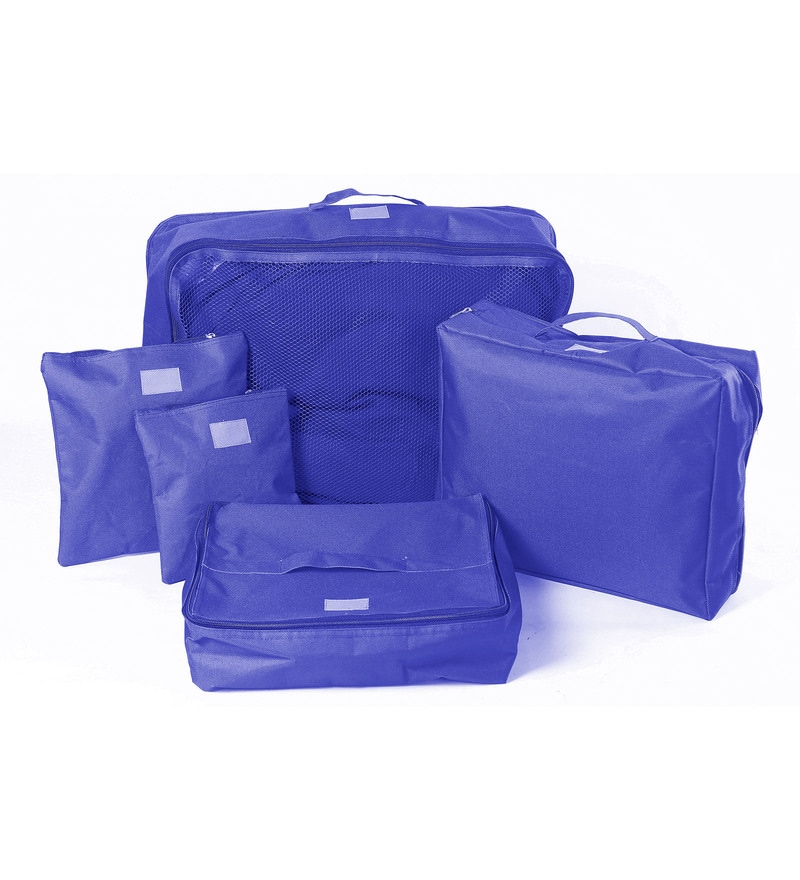 My Gift Booth Nylon Royal Blue Travel Suitcase Sorter - Set of 5