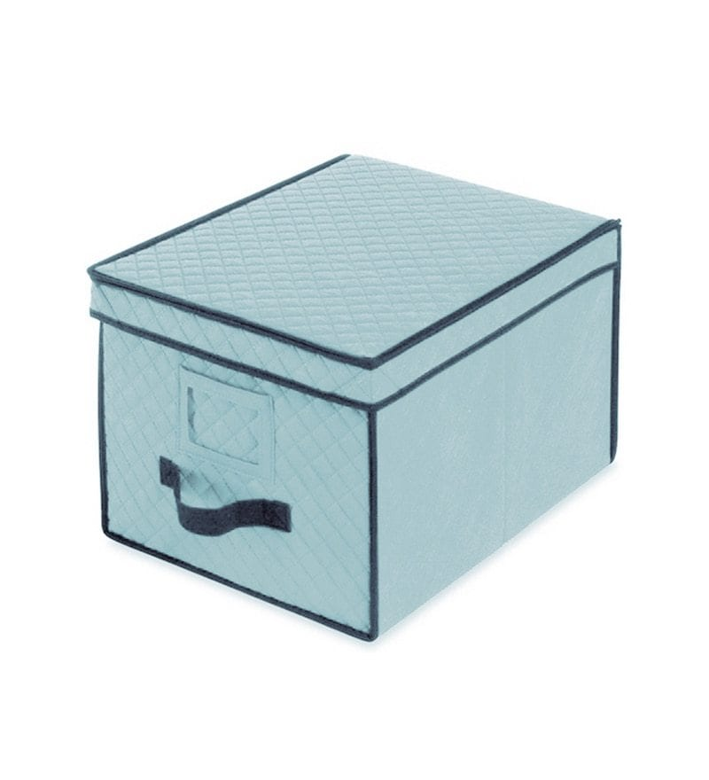 My Gift Booth Quilted Non-Woven Grey 10 L Storage Box