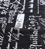 My Gift Booth Vintage Print Black Cotton Table Cover