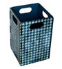 My Own Moroccan Flower Engineered Wood 1 L Blue DIY Dustbin