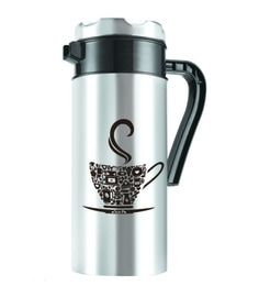 Nano 9 Tea-P Double Wall Black & Silver Stainless Steel 500 ML Flask