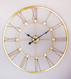 Natural Brass 40 X 1 X 40 Inch Extra Large Wall Clock