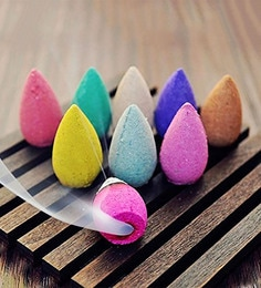 Natural Fragrance Pack Of Aeromatic Backflow Incense Cones