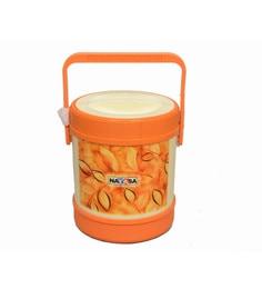 Nayasa Orange Stainless Steel Lunch Box - Set Of 4
