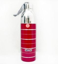 Nayasa Red Alloy Linea Insulated Red Plastic & Stainless Steel Bottle - 1629481