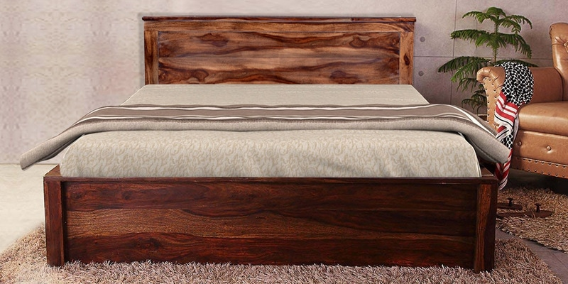Nashville King Size Bed with Storage in Provincial Teak Finish by Woodsworth