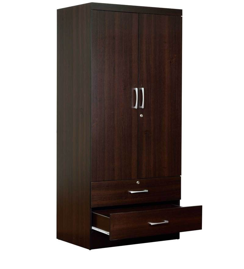buy nariko two door wardrobe with two drawers in wenge. Black Bedroom Furniture Sets. Home Design Ideas