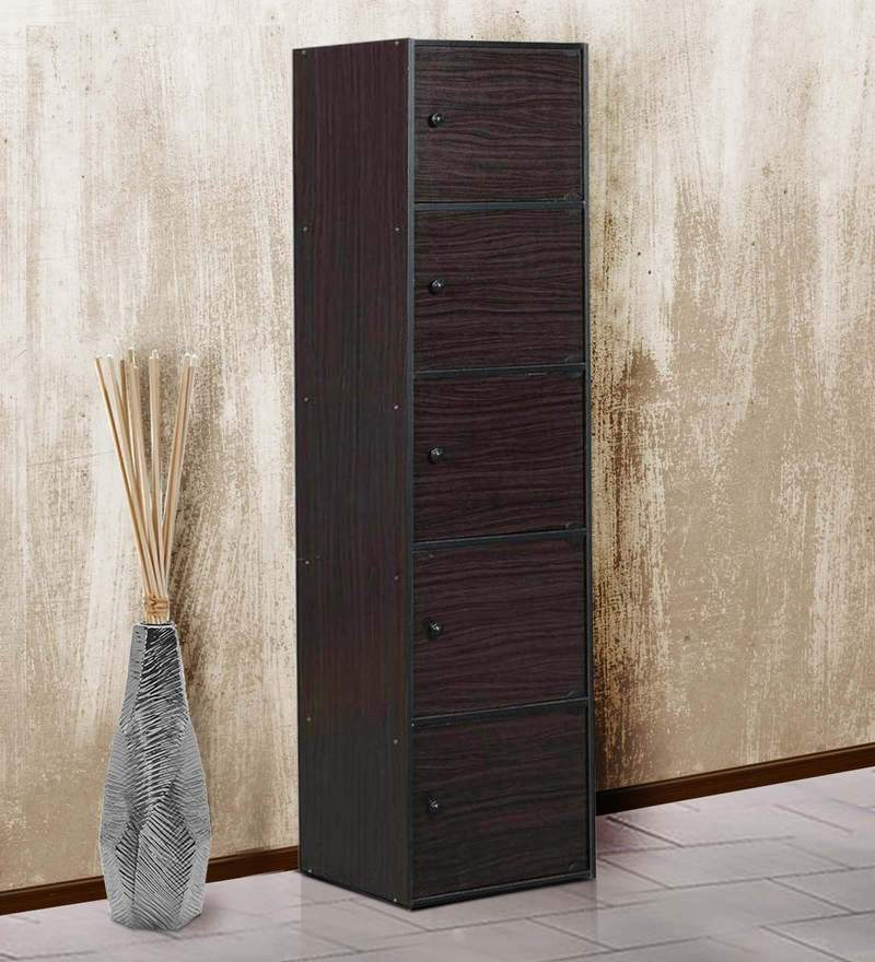 Natshu Five Door Filing Cabinet in Light Cappuccino Finish by Mintwud