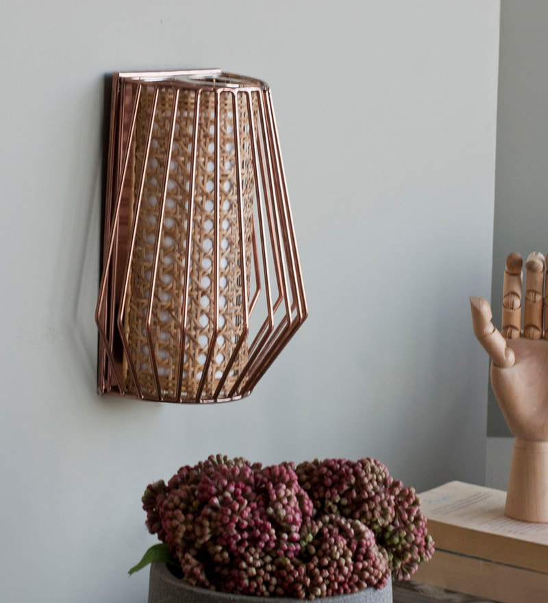 Natural Cane Ala Wall Lamp by Orange Tree