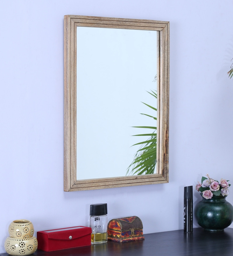 Natural Wood Mirror by La Stella