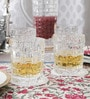 Nachtmann Glass 345 ML Weave Pattern Whisky Tumbler - Set of 4
