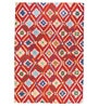 Red Wool 120 x 96 Inch Abstract Pattern Area Rug by The Rug Republic