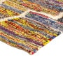 Multicolour Recycled Cotton Fabric 91 x 63 Inch Indian Ethnic Area Rug by The Rug Republic