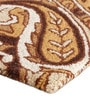 The Rug Republic Caramel Wool 91 x 63 Inch Indian Ethnic Area Rug