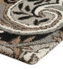 Steel Wool 91 x 63 Inch Indian Ethnic Area Rug by The Rug Republic
