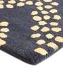 The Rug Republic Blue Wool 91 x 63 Inch Geometric Pattern Area Rug