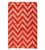Red Wool 91 x 63 Inch Geometric Pattern Area Rug by The Rug Republic