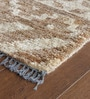 Brown Jute 91 x 63 Inch Abstract Pattern Area Rug by The Rug Republic