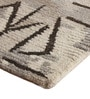 Brown and Ivory Wool 91 x 63 Inch Abstract Pattern Area Rug by The Rug Republic