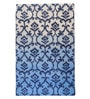 The Rug Republic Blue and Ivory Wool 91 x 63 Inch Indian Ethnic Area Rug