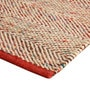 Red Wool and Polyester 88 x 60 Inch Geometric Pattern Area Rug by The Rug Republic