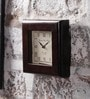 Brown MDF & Mango Wood 8 x 2 x 8 Inch Square Wall Clock by NB Home Interior Industry