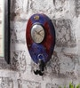 NB Home Interior  Multicolour MDF 7 x 1 x 10 Inch Wall Hook Clock