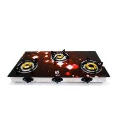 NDC XK-029 3-burner Toughened Glass Cooktop
